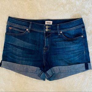 HUDSON Like New Rolled Hem Denim Shorts
